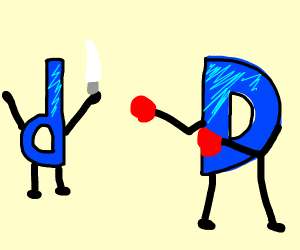 Battle with lowercase and uppercase d