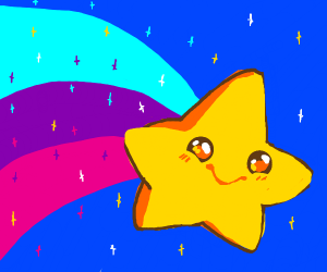 I'm a shooting star leaping through the sky..