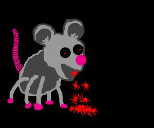 rat with 6 legs vomiting spiders