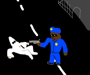 dying kkk member is killed by angry cop