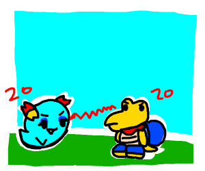 bow and kooper fighting from paper mario