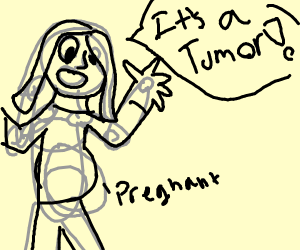 Girl mistakes being pregnant for a tumor