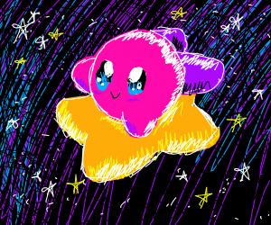 Kirby on star