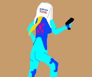 Zero Suit Samus with a bag