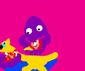 Thanos eats a cat