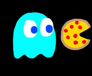 Ghostie wants pizza, please