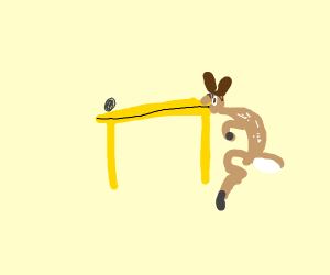 Bambi only ate one table