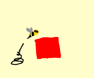 Hornet jumping over a Square