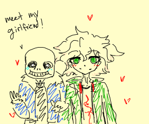 sans has a girlfriend and his blue eye is gon