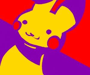 Slanted pikachu