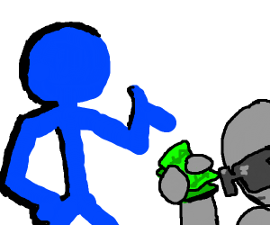 pay the debt to the blue stickman