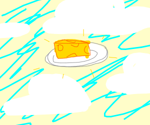 Floating plate with cheese
