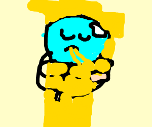 praying mantis enjoying some spaghet