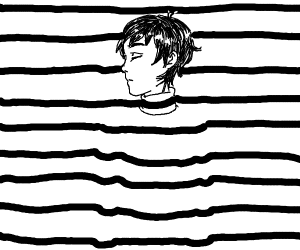 Striped man