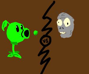 Pea Shooter vs zombie
