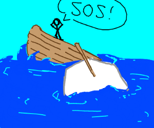 person on sinking ship says SOS