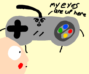 SNES controller is offended