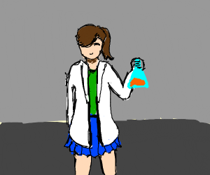 a girl scientist