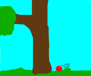 Rolling red ball