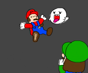 Mario was murdered in front of Luigi