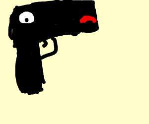 Unhappy gun