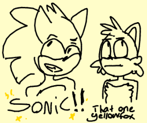 sonic and that yellow fox