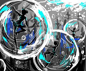 Ballerinas in bubbles