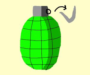 Grenade has pin removed