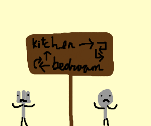 fork and spoon can't find their way home