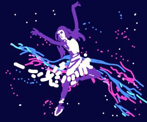 Dancer in a nebula