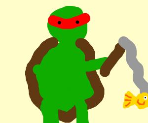 Raphael (TMNT) Fishing