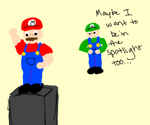 Luigi is sick of being player two to his bro