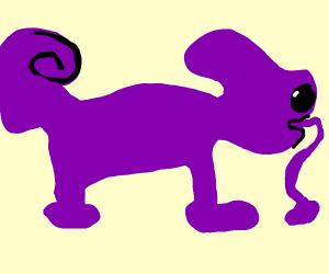 Purple Lizard with a Purple Lizard Tongue