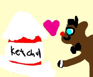 Reindeer marrying Ketchup