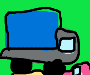 Blue Truck demolitions small cars