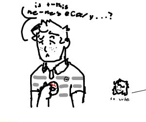 Evan Hansen as a Pokemon Trainer