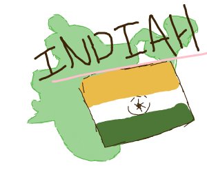 India (with H)
