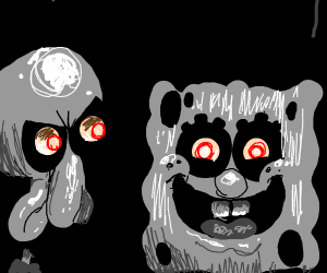 Creepy scary Spongebob :o