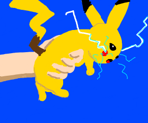 Using Pikachu as a gun