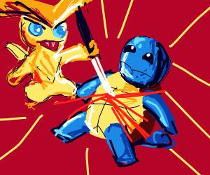 Victini vs. Squirtle (unfair battle)