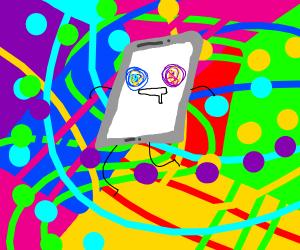smartphone on acid