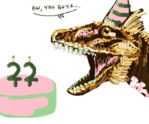 Dinosaur 22 birthday