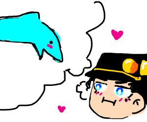 dolphin but its a jojo refrence