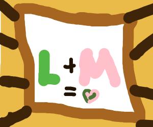 L loves M