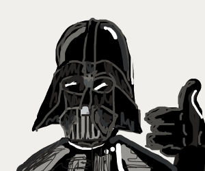 Darth Vader with thumbs up