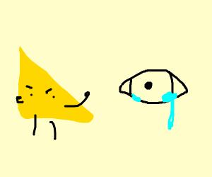 Cheese makes eye salivate