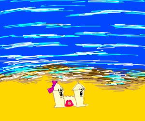 Sand castle-chan <3