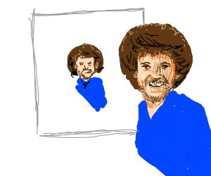 Bob Ross painting himself