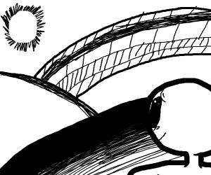 Bridge leading to the horizon