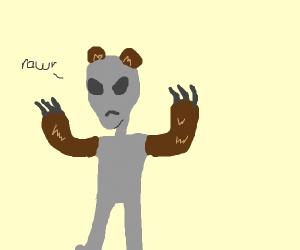 Alien expressing its 2nd amendment